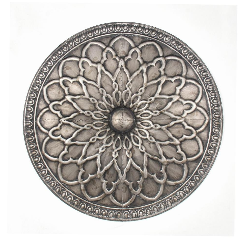 Most Up To Date Three Hands Silver Metal Wall Art 99785 – The Home Depot Within Silver Metal Wall Art (View 11 of 15)