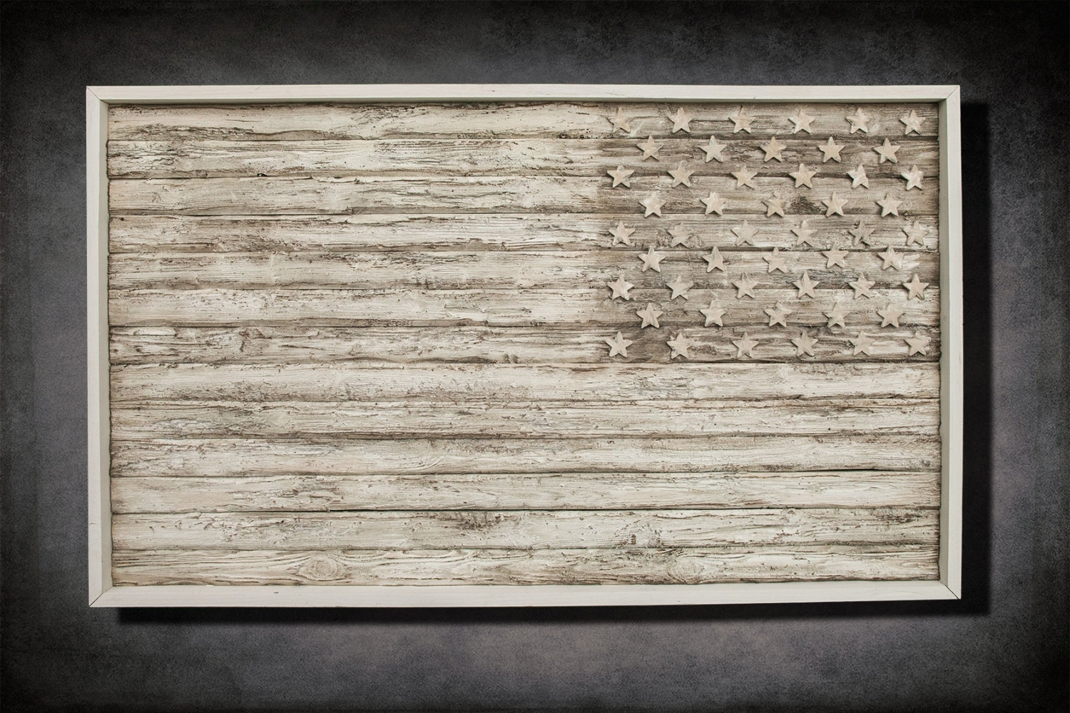 Most Up To Date Vintage American Flag Wall Art Inside American Flag, Weathered Wood, One Of A Kind, 3D, Wooden, Vintage (View 7 of 15)