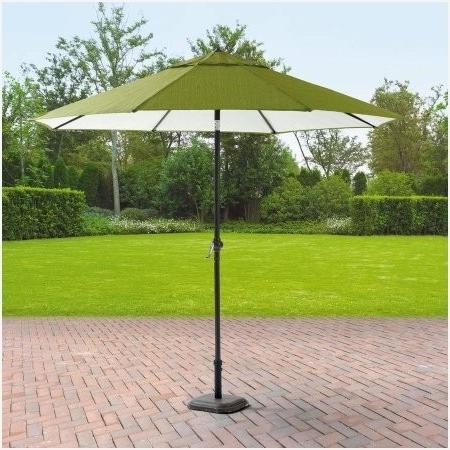 Most Up To Date Walmart Umbrellas Patio » Warm Mainstays Crossman 9 Umbrella Green Regarding Walmart Umbrellas Patio (View 6 of 15)