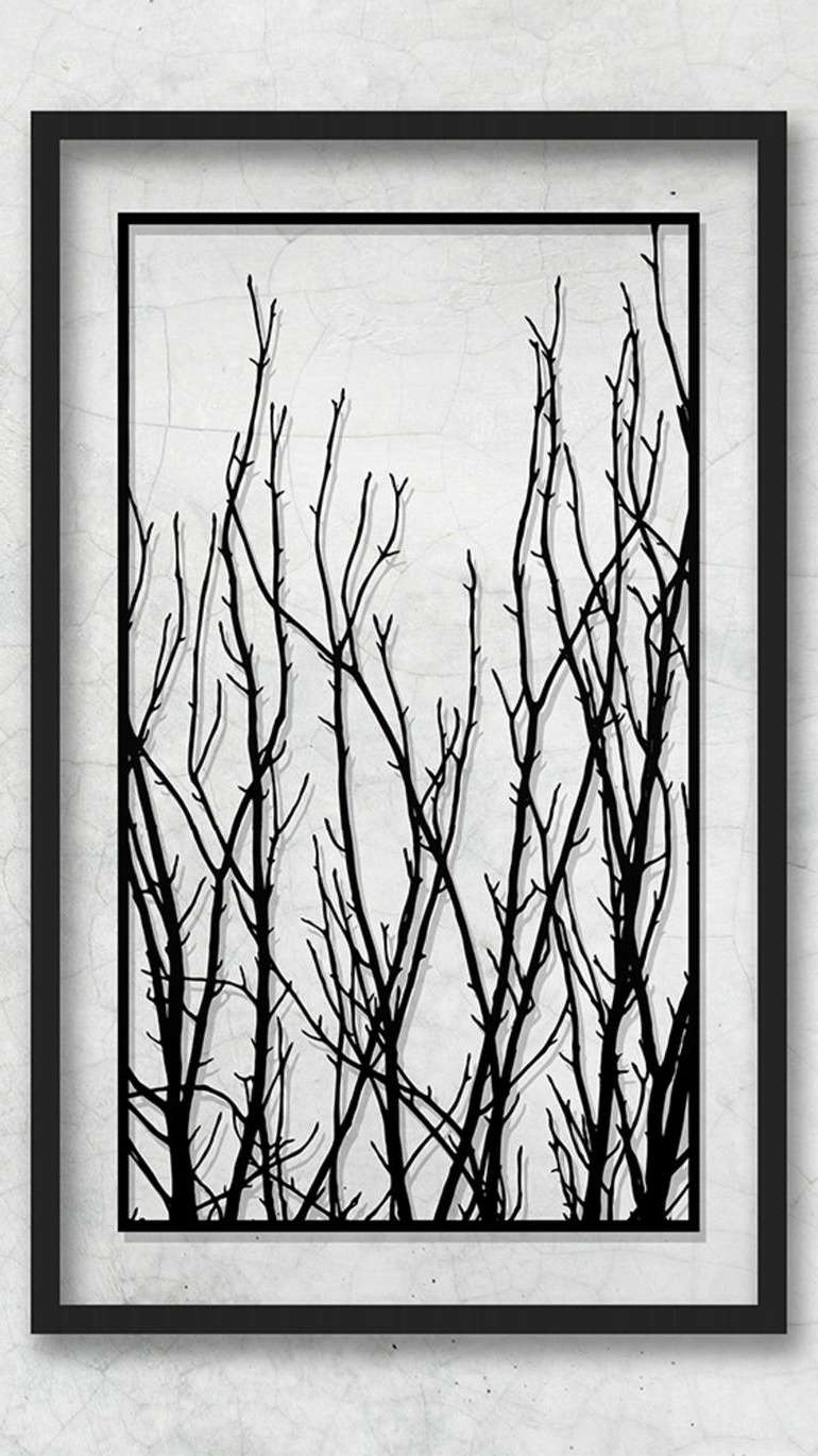 Most Up To Date White Wall Art Within Saatchi Art: Paper Cut Artwork  Tree Art  Tree Branches  Tree Branch (View 8 of 15)