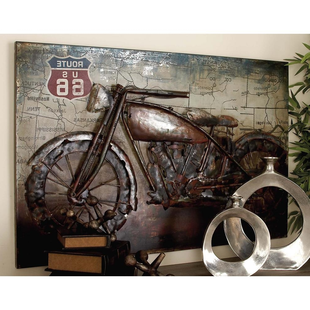 Motorcycle Wall Art Pertaining To Most Current Litton Lane 32 In. X 47 In (View 4 of 15)