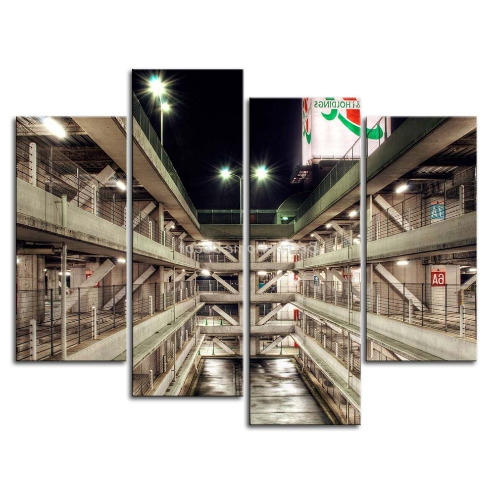 Multi Piece Wall Art Regarding Favorite 3 Piece Wall Art Painting Multi Storey Car Park In Tokyo Picture (View 9 of 15)