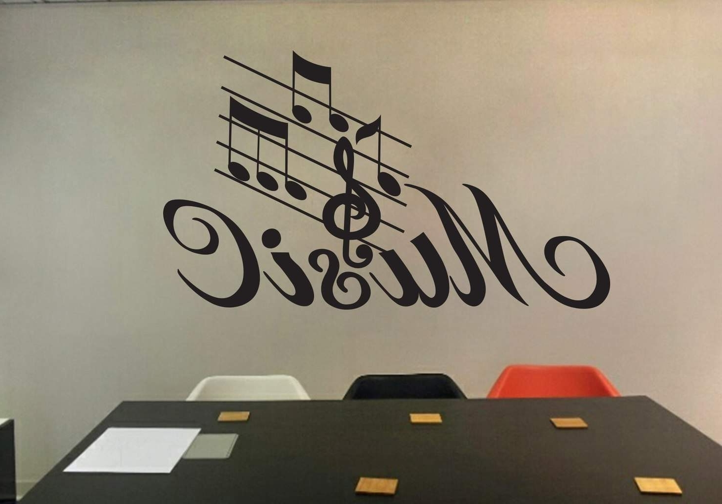 Music Wall Art Decal (View 8 of 15)