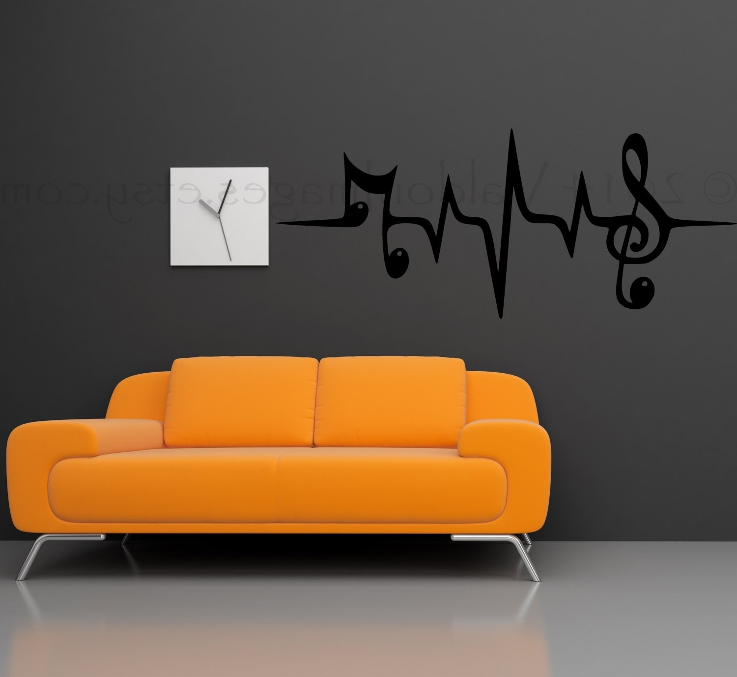 Music Wall Art Intended For Current Phantasy Sensational Music Wall Art Treble Clef Frame Paper Zoom (View 9 of 15)