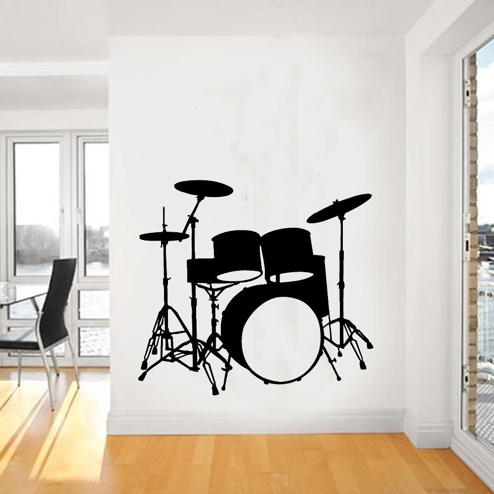 Music Wall Art Regarding Preferred 2015 Fashion Music Vinyl Wall Decal Drums Wall Art Musical (View 7 of 15)