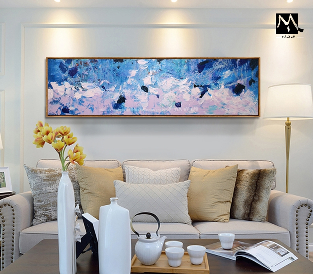 Muya Hand Painted Extra Large Art Modern Abstract Painting Throughout Most Recently Released Large Contemporary Wall Art (View 8 of 15)