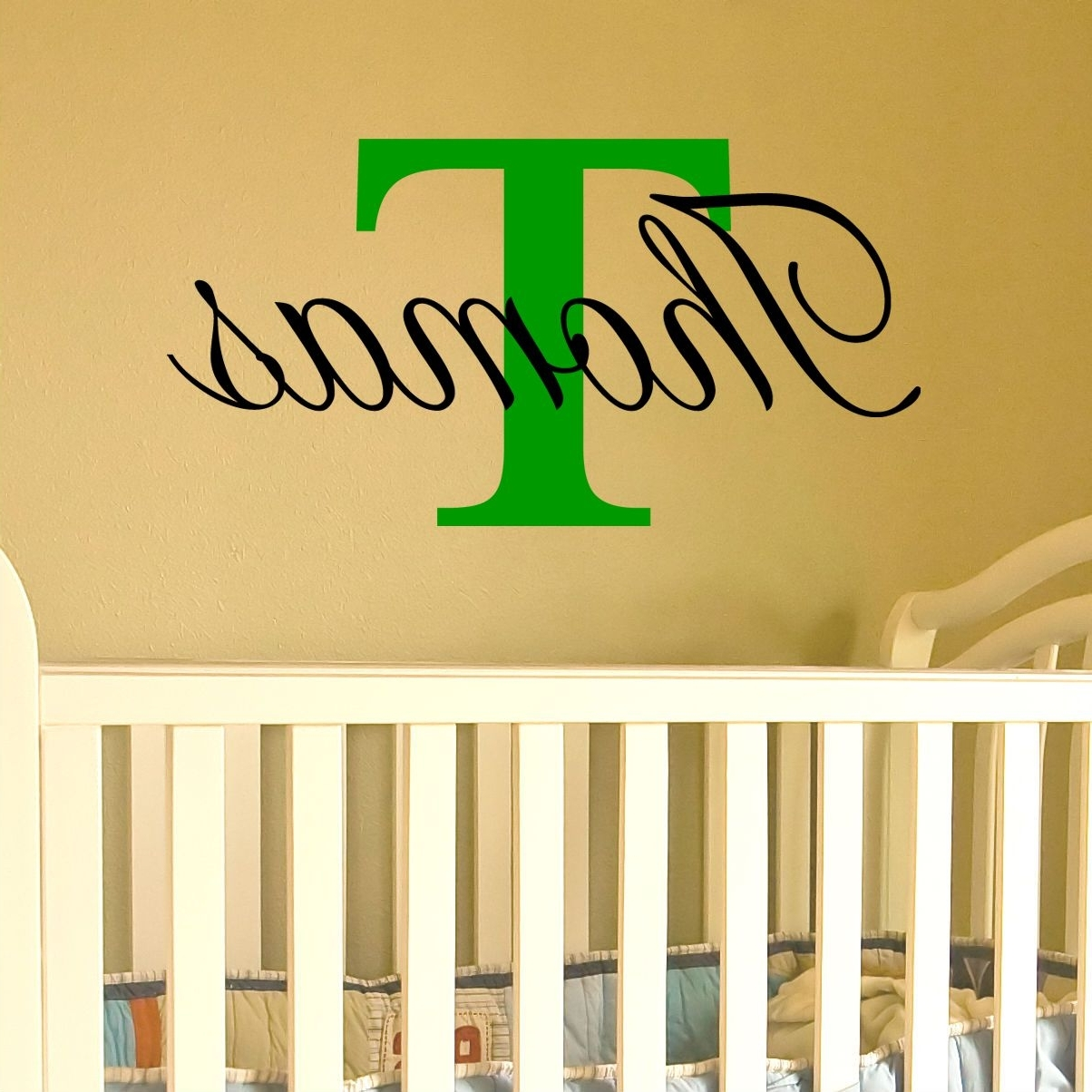 Name Wall Art With Regard To Trendy Name Wall Art With Capital Letter (Available For A Boy Or Girl) (View 4 of 15)