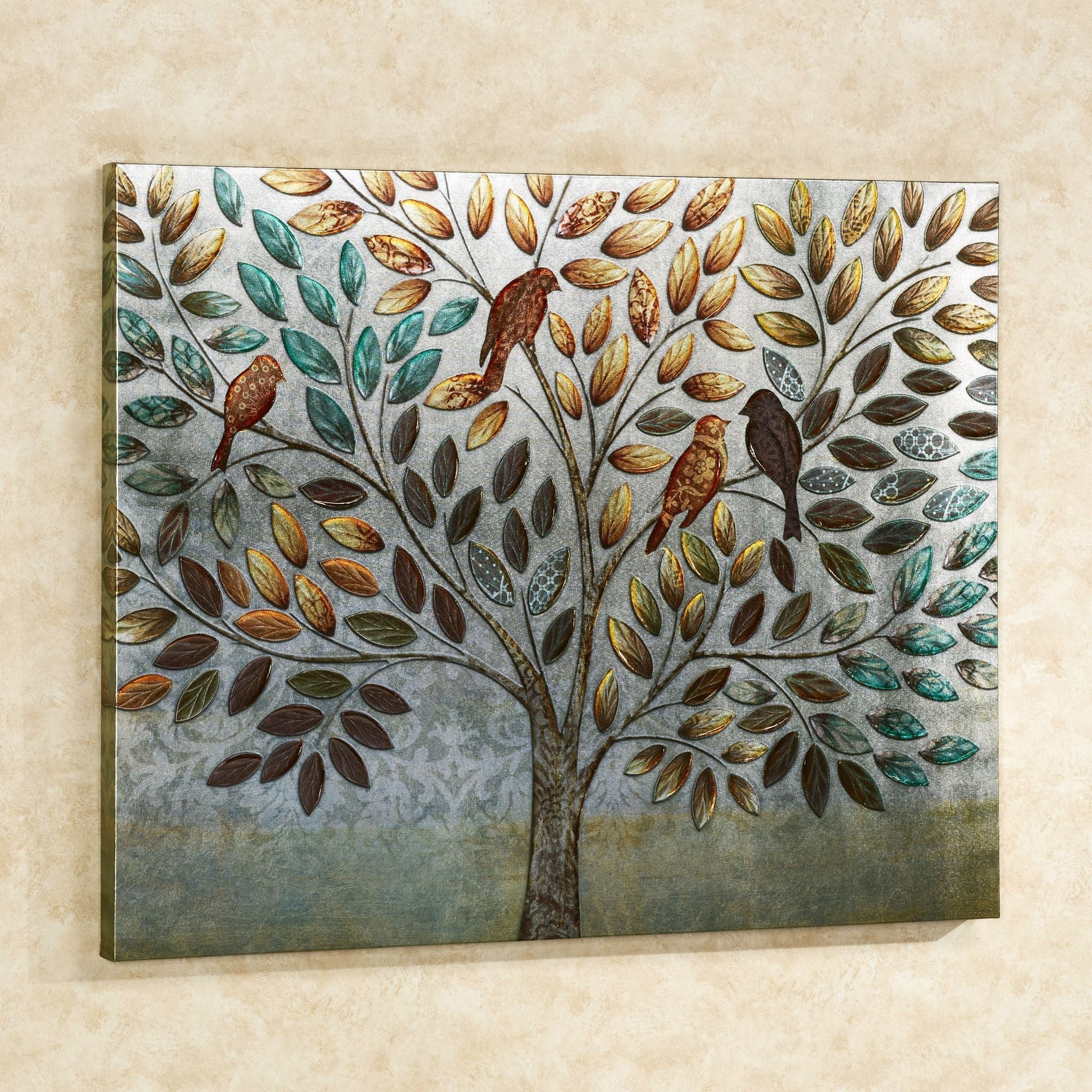 Natures Splendor Birds In Tree Canvas Wall Art With Regard To Current Touch Of Class Wall Art (View 11 of 15)