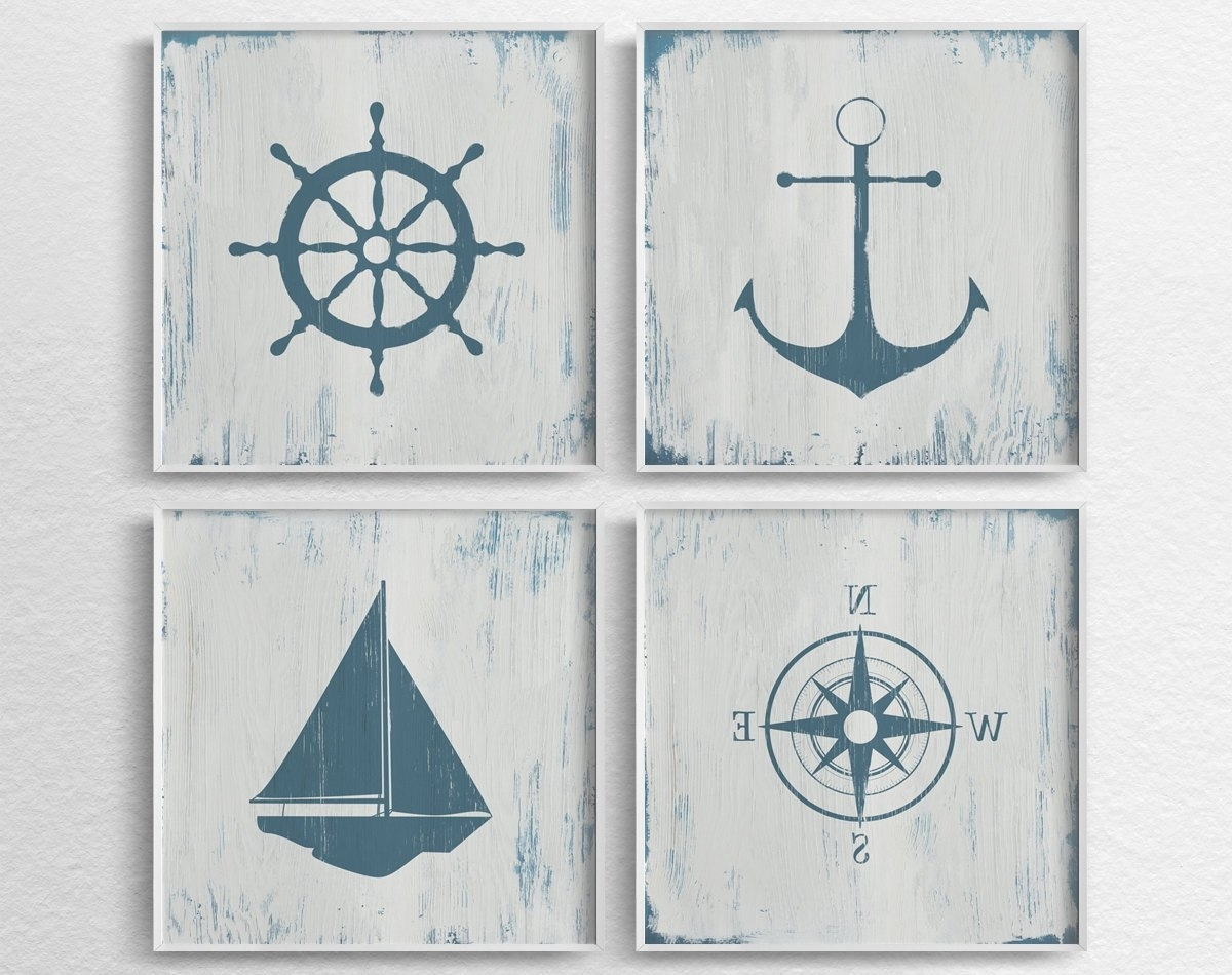 Nautical Decor Nautical Nursery Nautical Wall Art Rustic, Nautical Within Most Up To Date Nautical Wall Art (View 15 of 15)