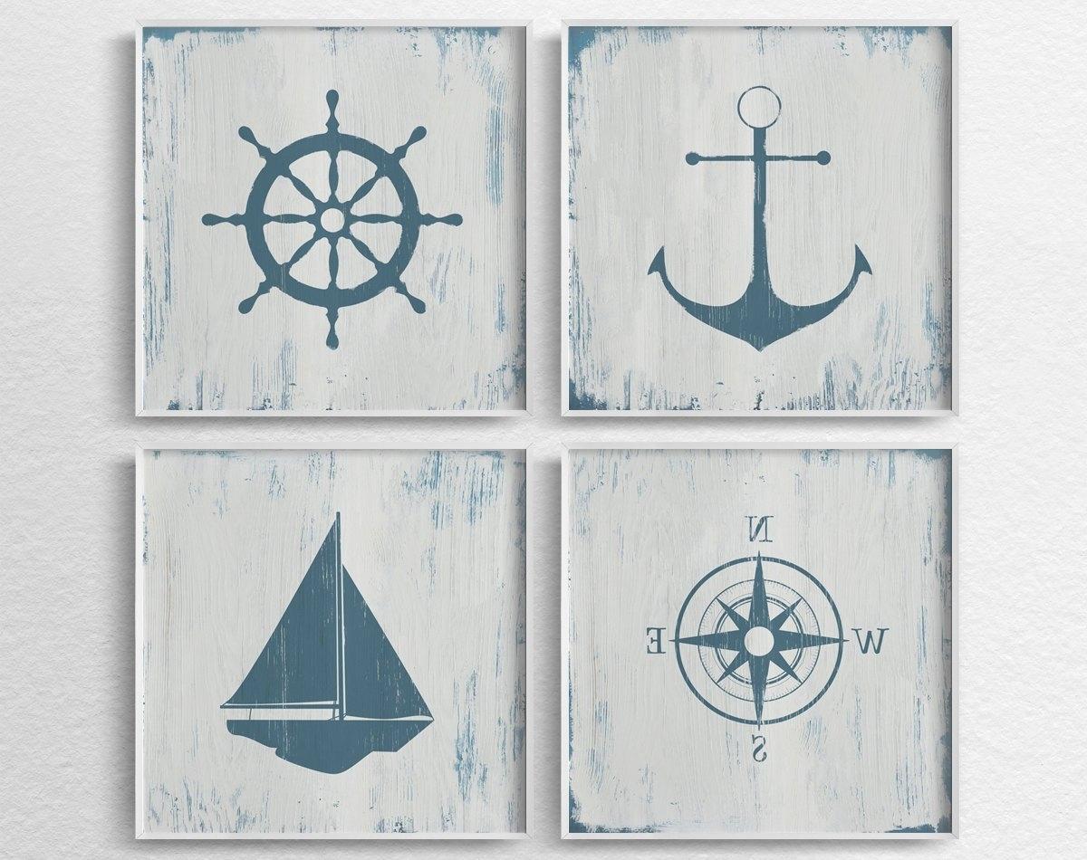 Nautical Decor Nautical Nursery Nautical Wall Art Rustic, Nautical Within Most Up To Date Nautical Wall Art (View 7 of 15)