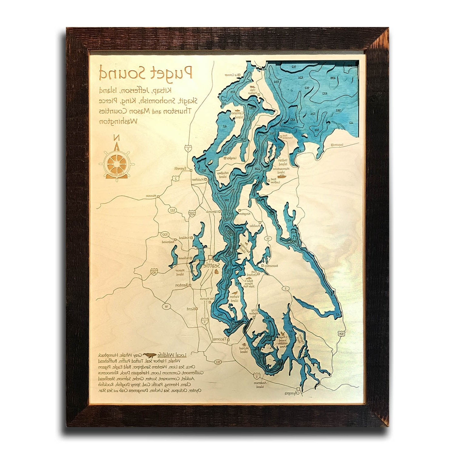 Nautical Wood Maps (View 6 of 15)
