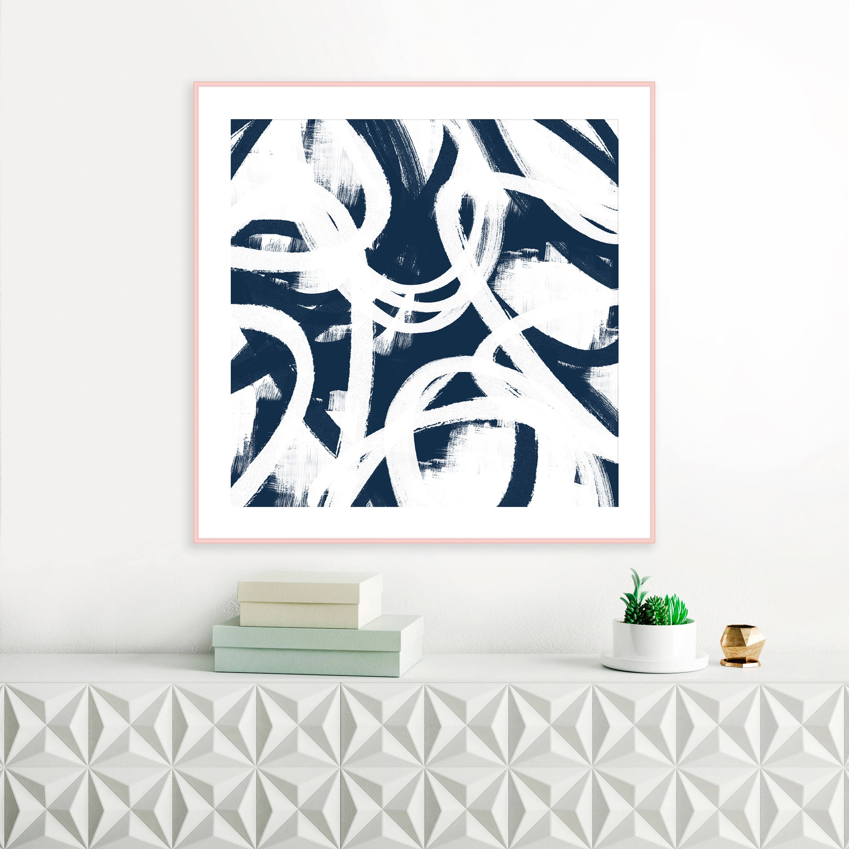 Navy Blue Wall Art For Most Recent Blue Abstract Art, Printable Navy Blue Wall Art, Modern Printable (View 9 of 15)