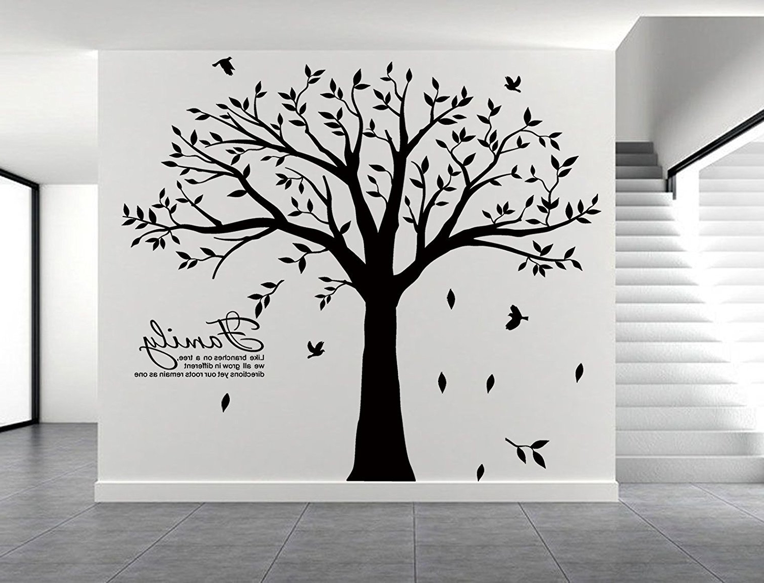 New Family Tree Wall Decal Vinyl Stickers Living Room Home Decor Intended For Recent Family Tree Wall Art (View 12 of 15)