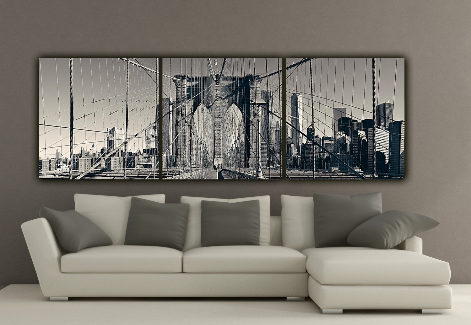 New York Brooklyn Bridge Canvas Nice Wall Art New York City – Wall Throughout Famous Nyc Wall Art (View 8 of 15)