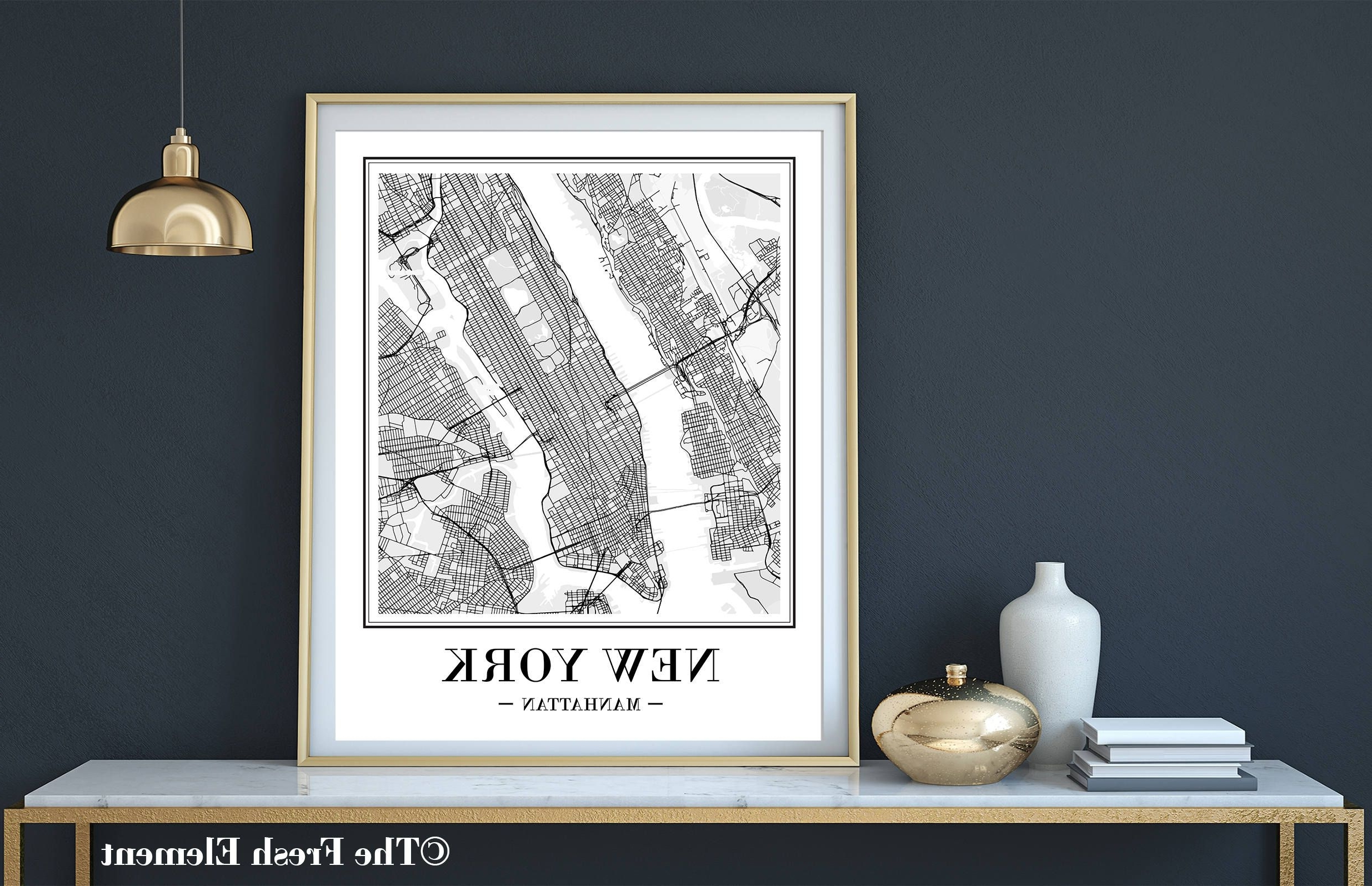 Featured Photo of New York City Map Wall Art