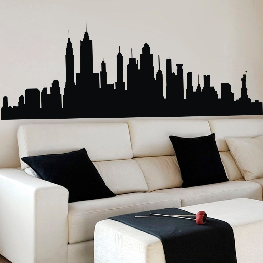 New York City Wall Art For Most Recently Released Wall Decal New York City Nyc Skyline Cityscape Travel Vacation (View 15 of 15)