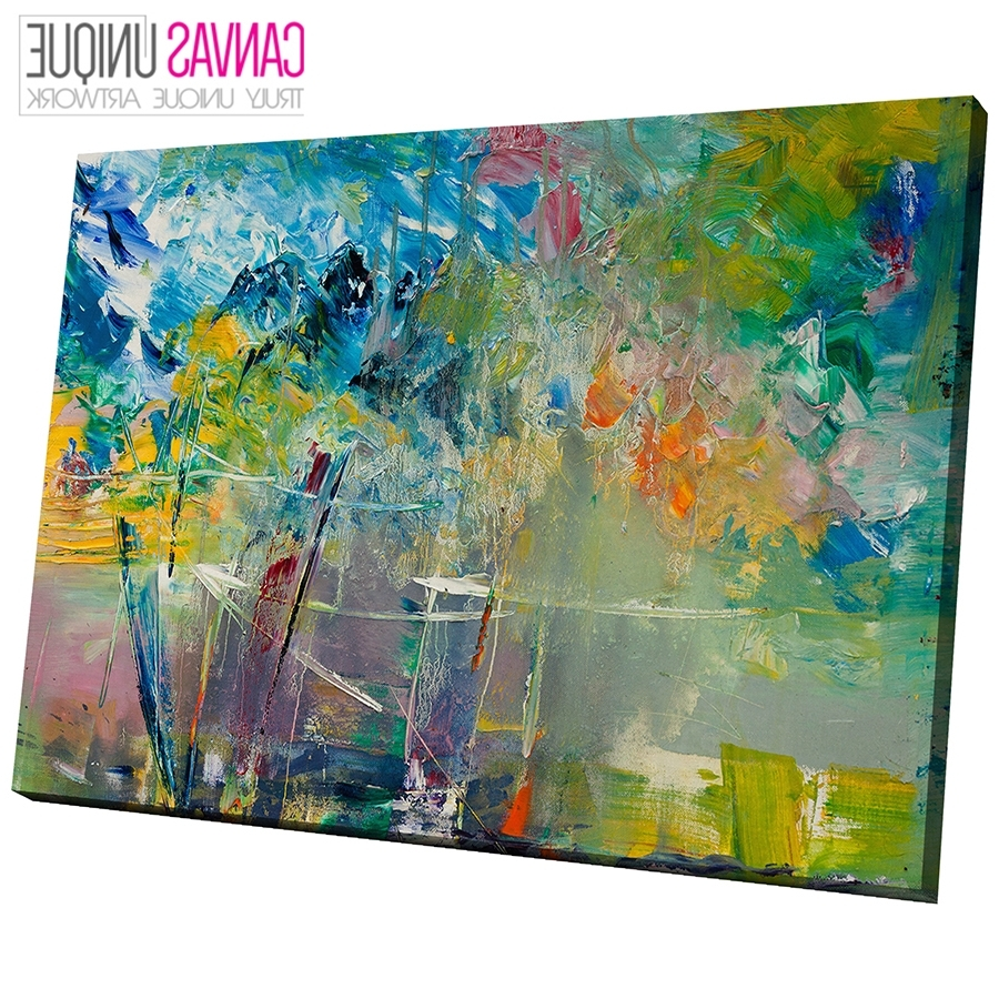 Newest Ab730 Green Textured Paint Look Abstract Canvas Wall Art Framed Throughout Abstract Canvas Wall Art (View 12 of 15)