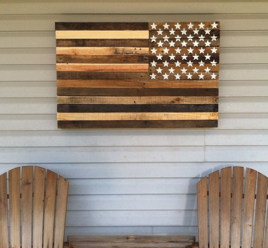 Newest Awesome Barnwood American Flag Year Old Wood One Of A Kind Wooden Inside Wooden American Flag Wall Art (View 13 of 15)