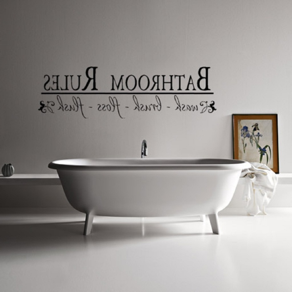 Newest Bathroom Wall Art Decors With Regard To Wall Art Decor Bathroom : Best Ideas Wall Art Decor – Jeffsbakery (View 6 of 15)