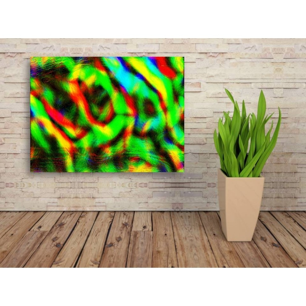 Newest Buy Green Abstract Wall Art Canvas For Home Decor Online India With Regard To Green Wall Art (View 9 of 15)