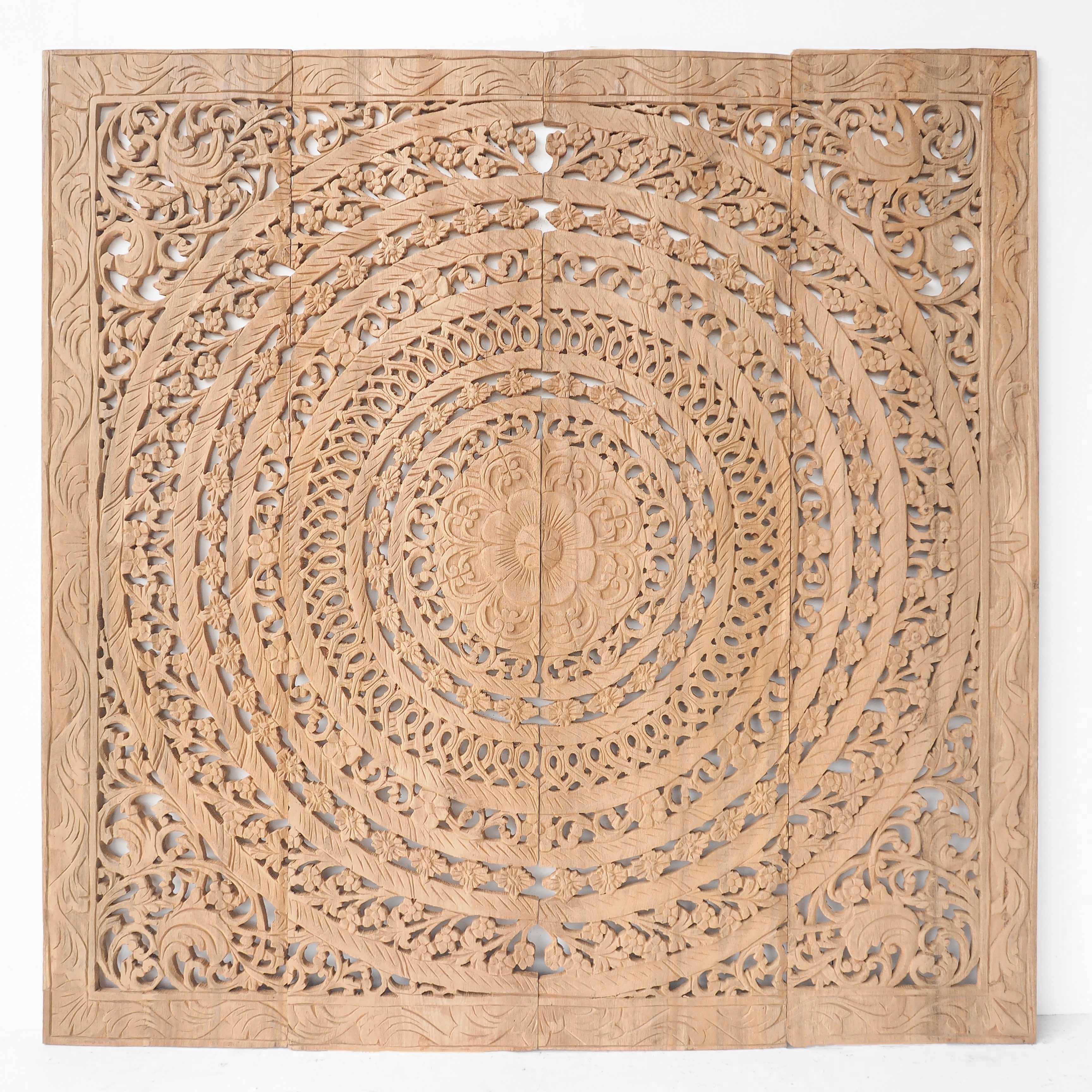 Newest Buy Wood Carving Wall Panel With Moroccan Design Online Inside Wood Carved Wall Art (View 6 of 15)