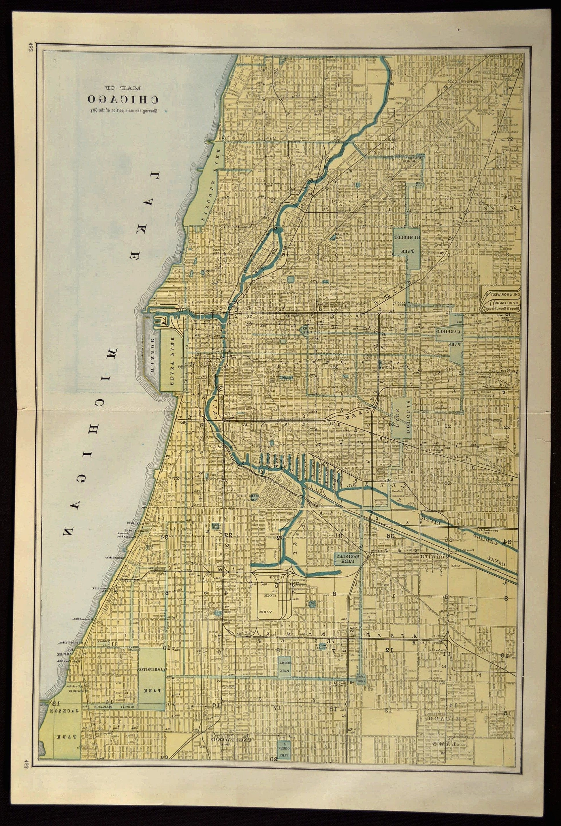 Newest Chicago Map Chicago Street Map Large Original Wall Art (View 7 of 15)