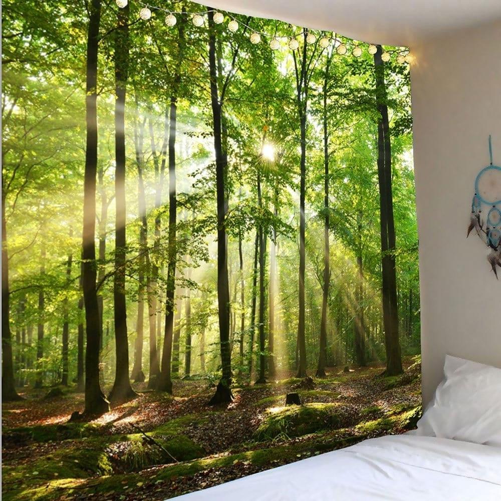 Newest Decorative Wall Art Regarding Green W91 Inch * L71 Inch Forest Sunlight Decorative Wall Art (View 11 of 15)