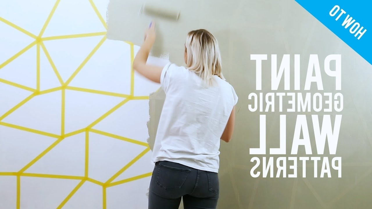 Newest Diy Painted Geometric Wall Decor – Youtube In Geometric Wall Art (View 9 of 15)