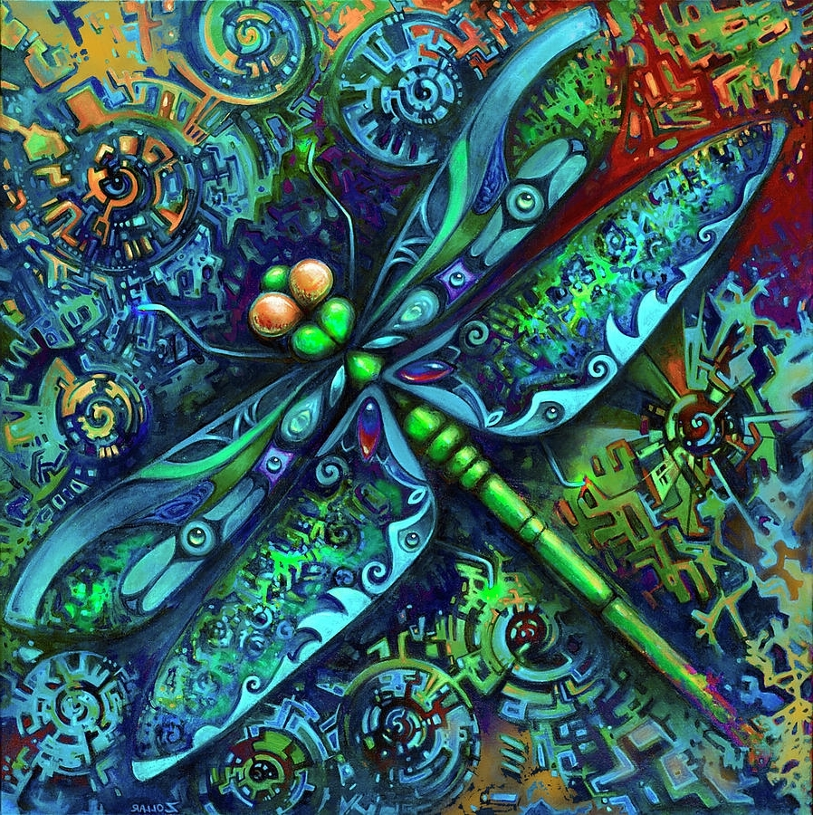Newest Dragonfly Paintinglaura Zollar Pertaining To Dragonfly Painting Wall Art (View 13 of 15)