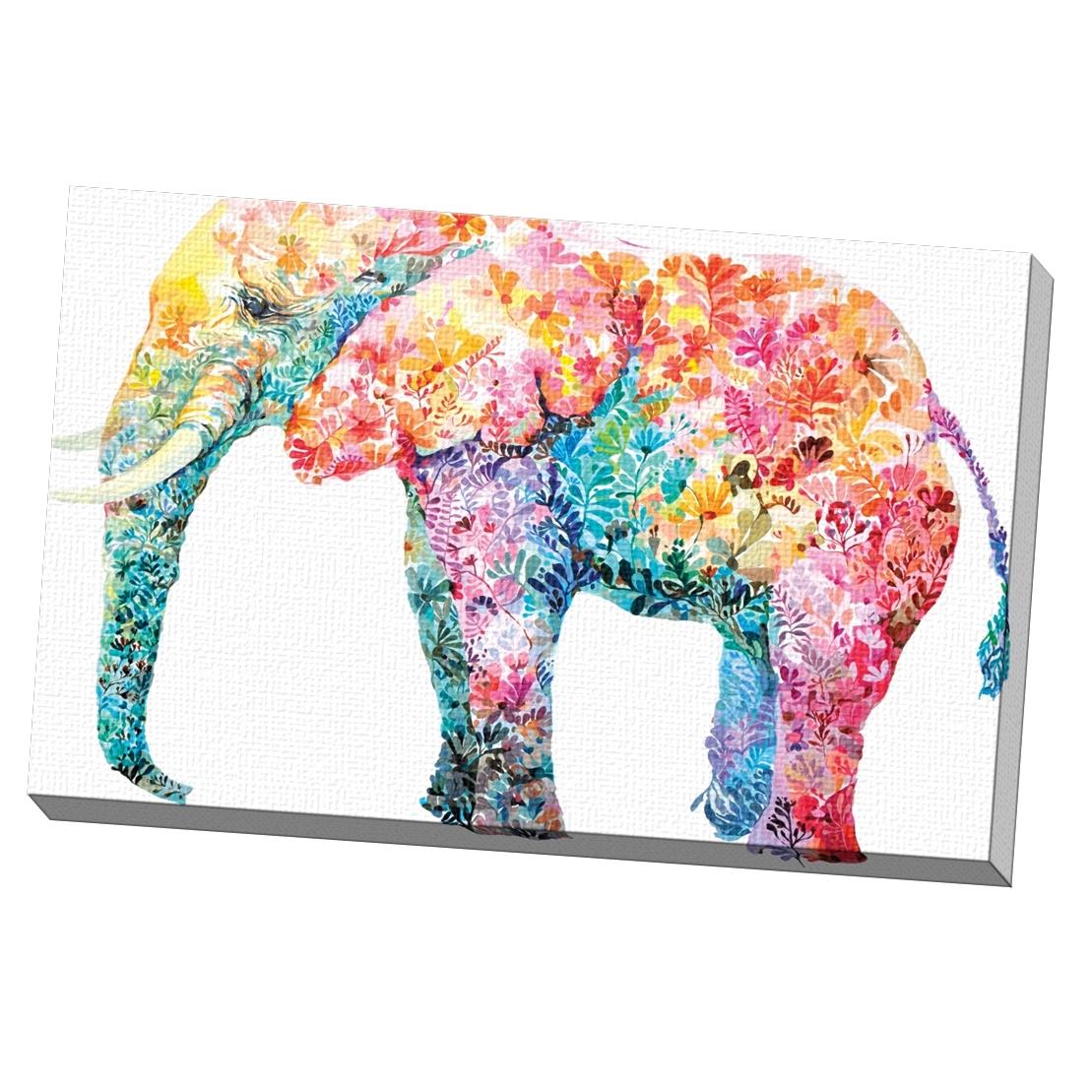 Newest Elephant Canvas Wall Art With Regard To Shop Portfolio Canvas Decor Maria Varela 'elephant Gum' Framed (View 11 of 15)