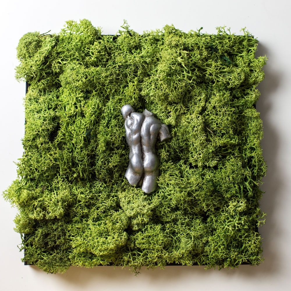 Newest English) Moss Wall Art With Italian Sculpture, Wedding Gift, Nature Throughout Moss Wall Art (View 5 of 15)