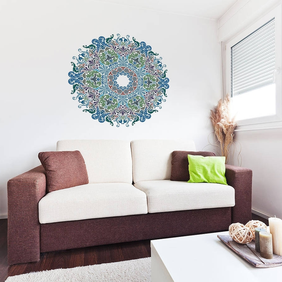 Newest Floral Victorian Mandala Wall Art Stickervinyl Revolution For Mandala Wall Art (View 13 of 15)