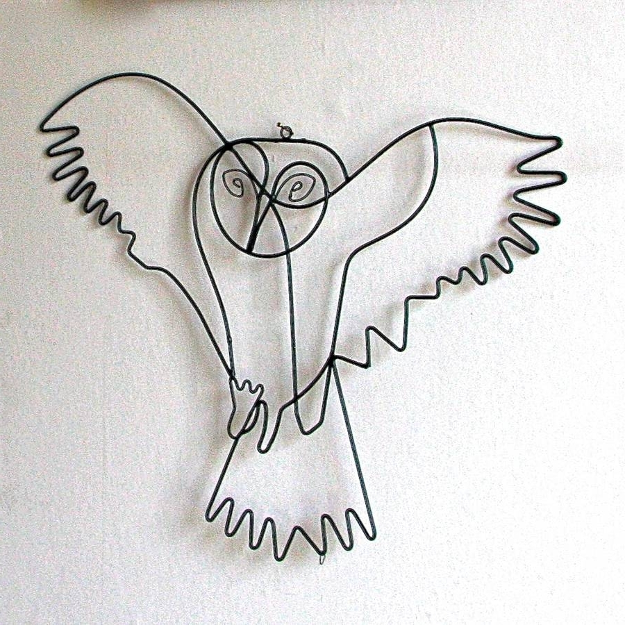 Newest Flying Owl Wire Wall Artlondon Garden Trading Throughout Wire Wall Art (View 8 of 15)