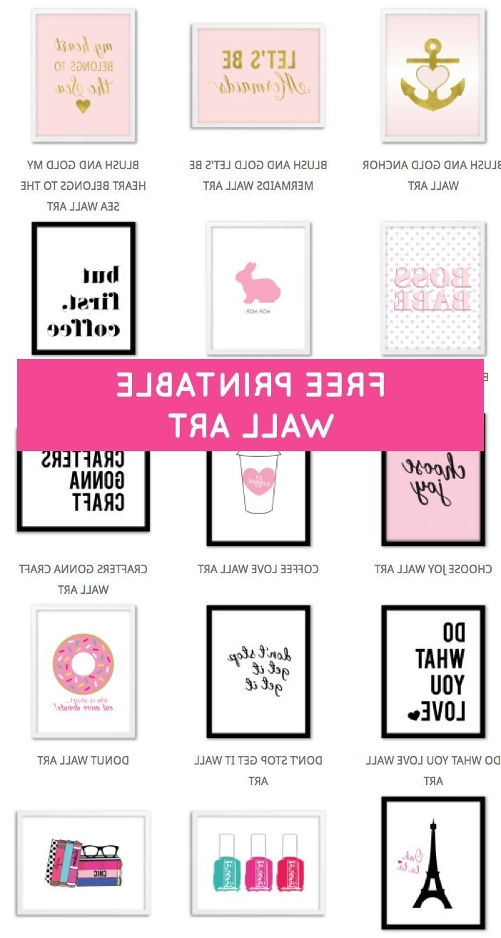 Newest Free Printable Wall Art Decors Within Printable Wall Art – Print Wall Decor And Poster Prints For Your (View 12 of 15)