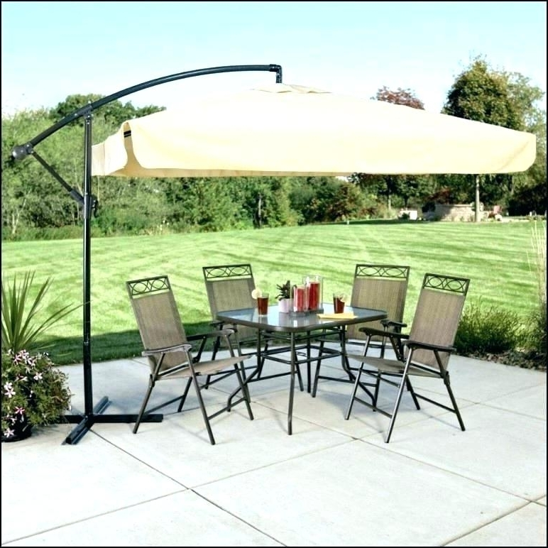 Newest Garden Treasures Umbrella Design Offset Lowes Patio Table Umbrellas For Lowes Cantilever Patio Umbrellas (View 15 of 15)