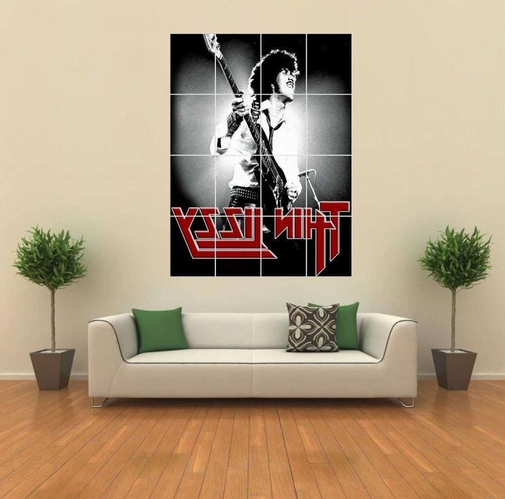 Newest Giant Wall Art With Regard To Phil Lynott Poster (Giant Wall Art) – Oldvinylvault (View 3 of 15)
