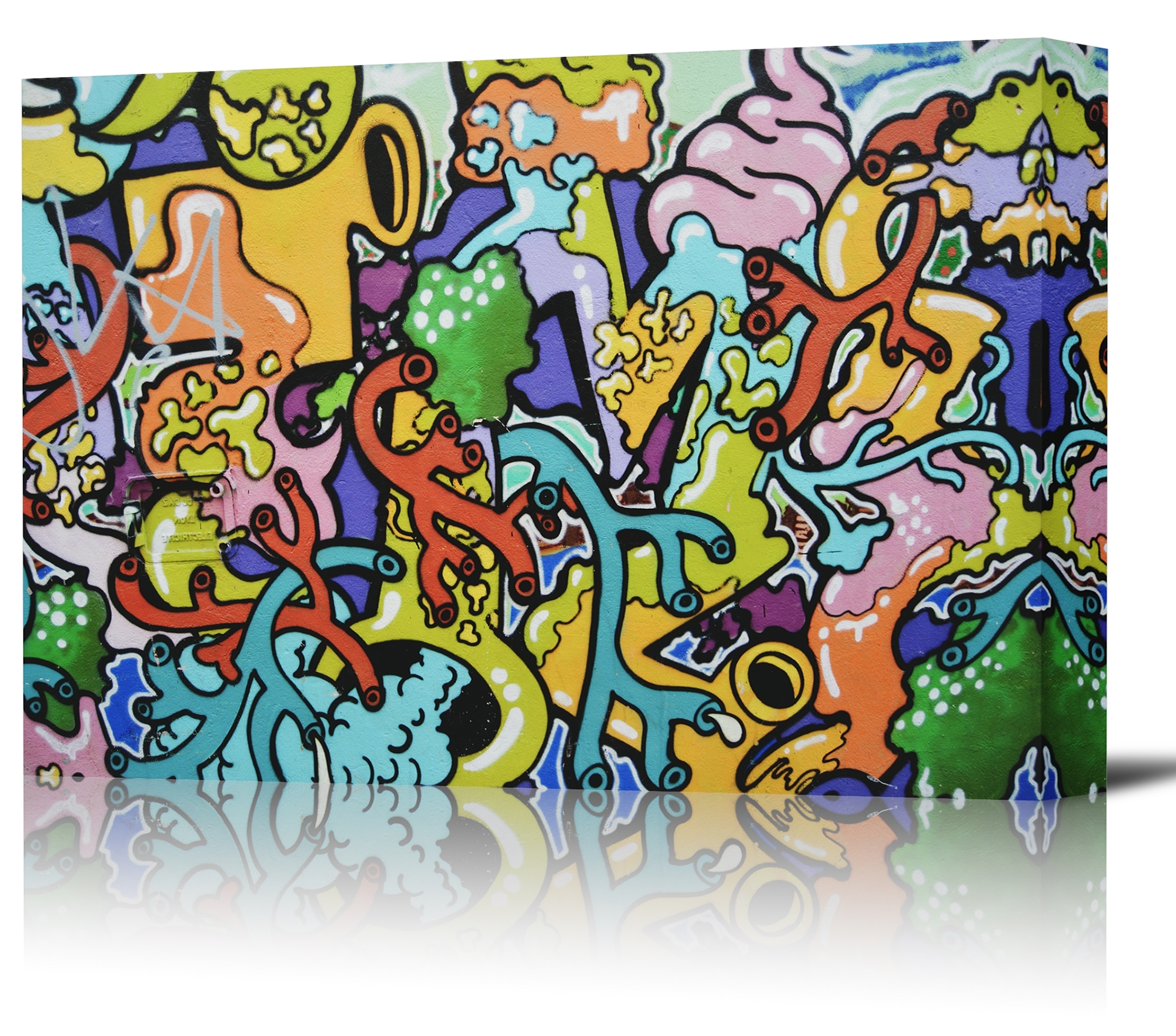 Newest Graffiti Colorful Wall Art Print Decor Image – Canvas Stretched Intended For Colorful Wall Art (View 9 of 15)