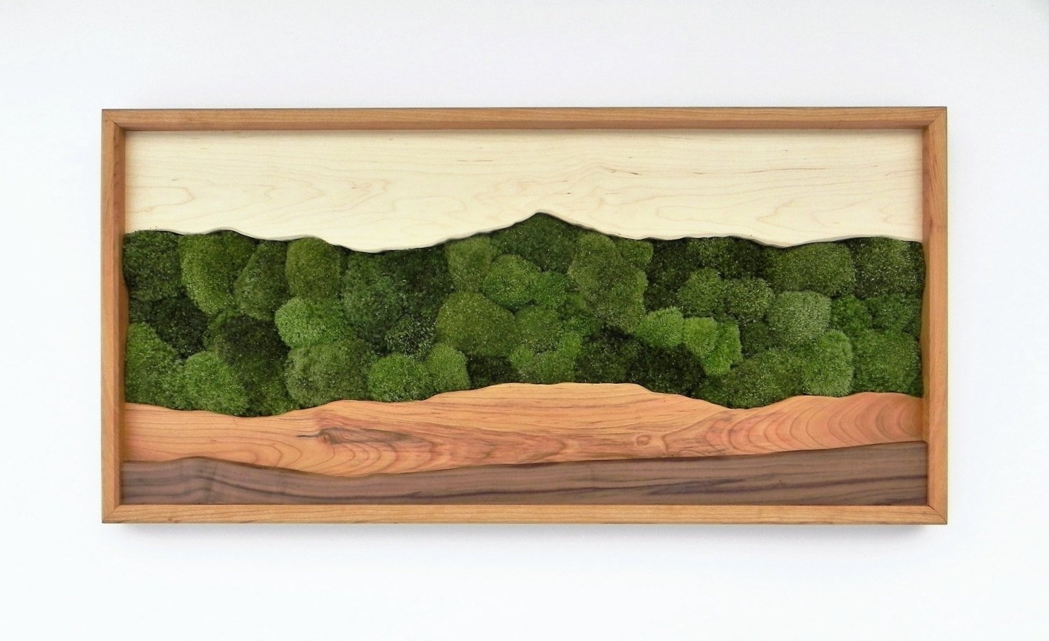 Newest Green Mountain Moss Wall Art /sugar Maple, Cherry, Walnut, Preserved For Green Wall Art (View 10 of 15)