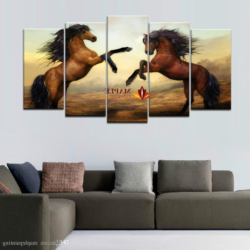 Newest Large Contemporary Wall Art With 2018 High Quality Cheap Art Pictures Brown Horse Large Hd Modern (View 9 of 15)
