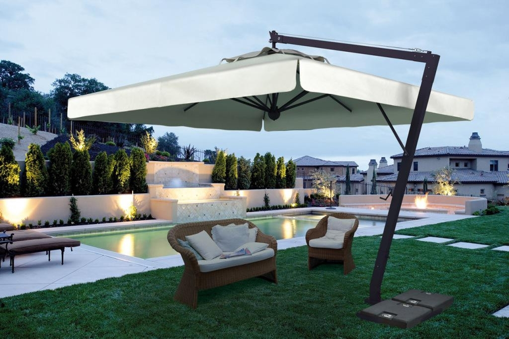 Newest Large Patio Umbrellas Best With Pictures Three Dimensions Lab – Home For Large Patio Umbrellas (View 15 of 15)