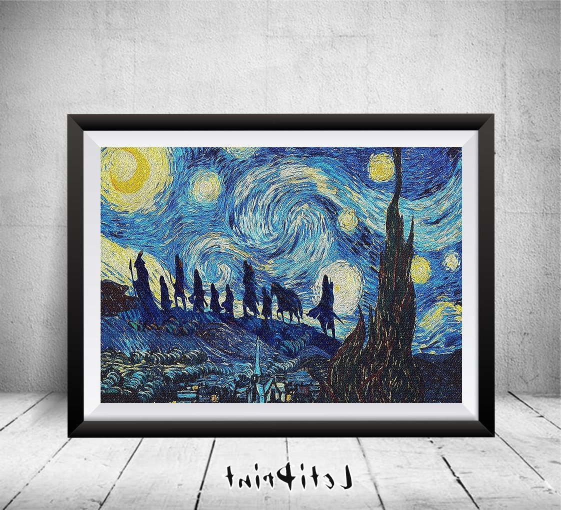 Newest Lord Of The Rings Starry Night Print, Wall Art Decor, Lord Of The In Lord Of The Rings Wall Art (View 11 of 15)