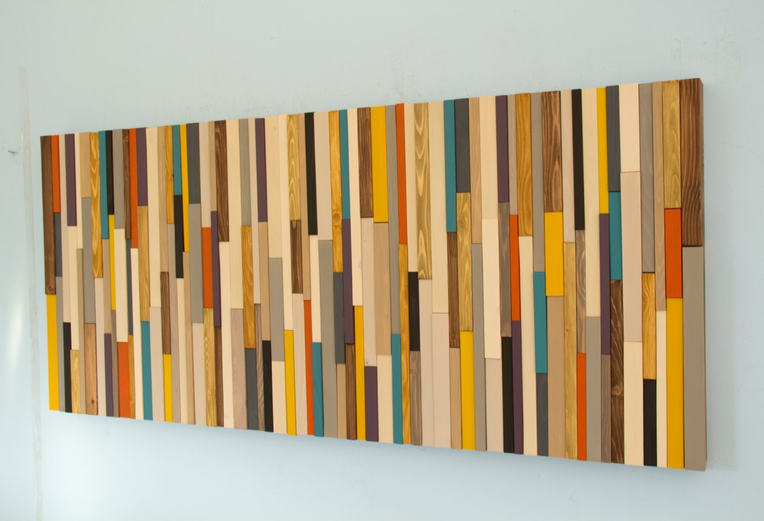 Newest Mid Century Wall Art With Regard To Mid Century Wall Art, Reclaimed Wood Art Sculpture, Painted Wood (View 13 of 15)
