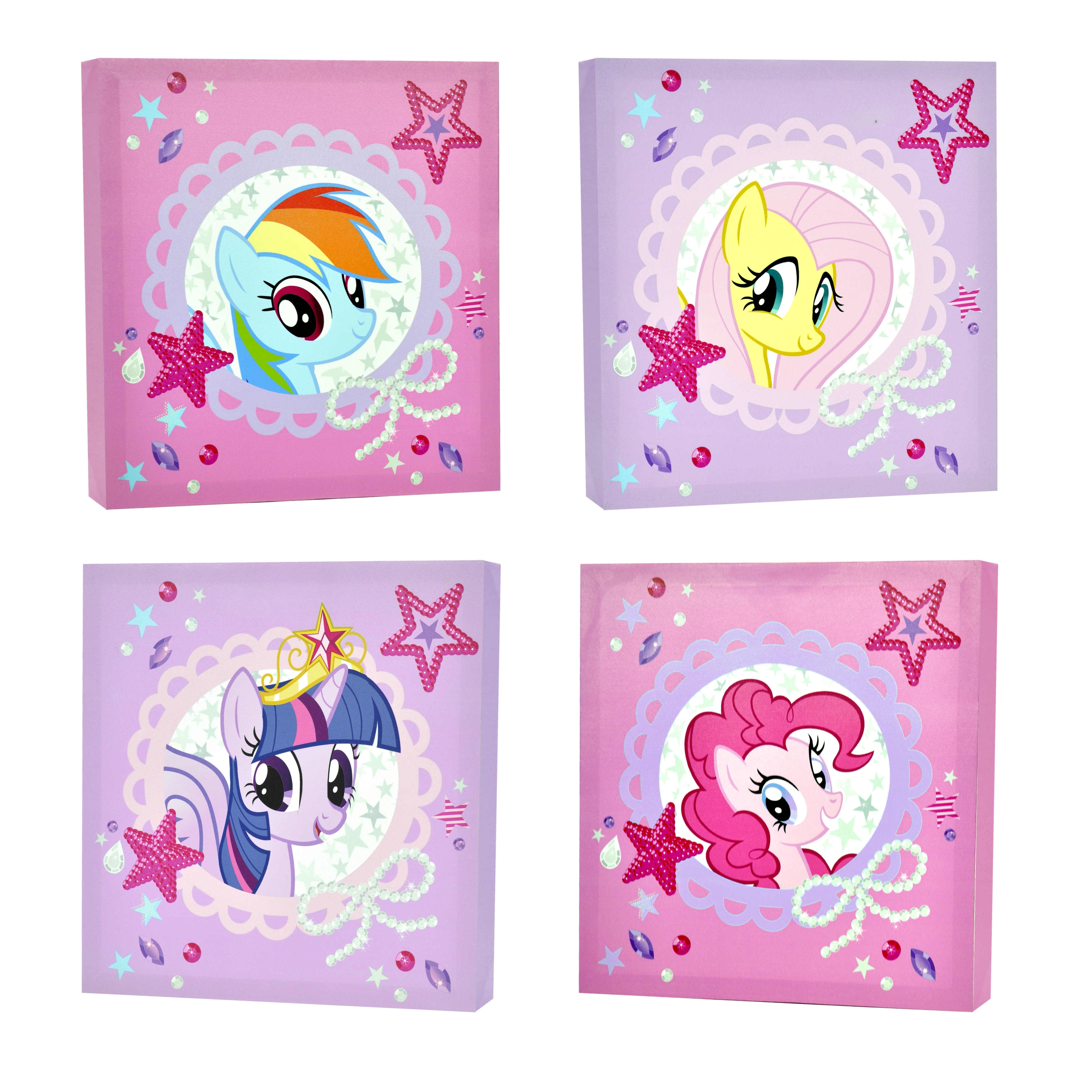 Newest My Little Pony 4 Piece Canvas Wall Art – Walmart Inside My Little Pony Wall Art (View 11 of 15)