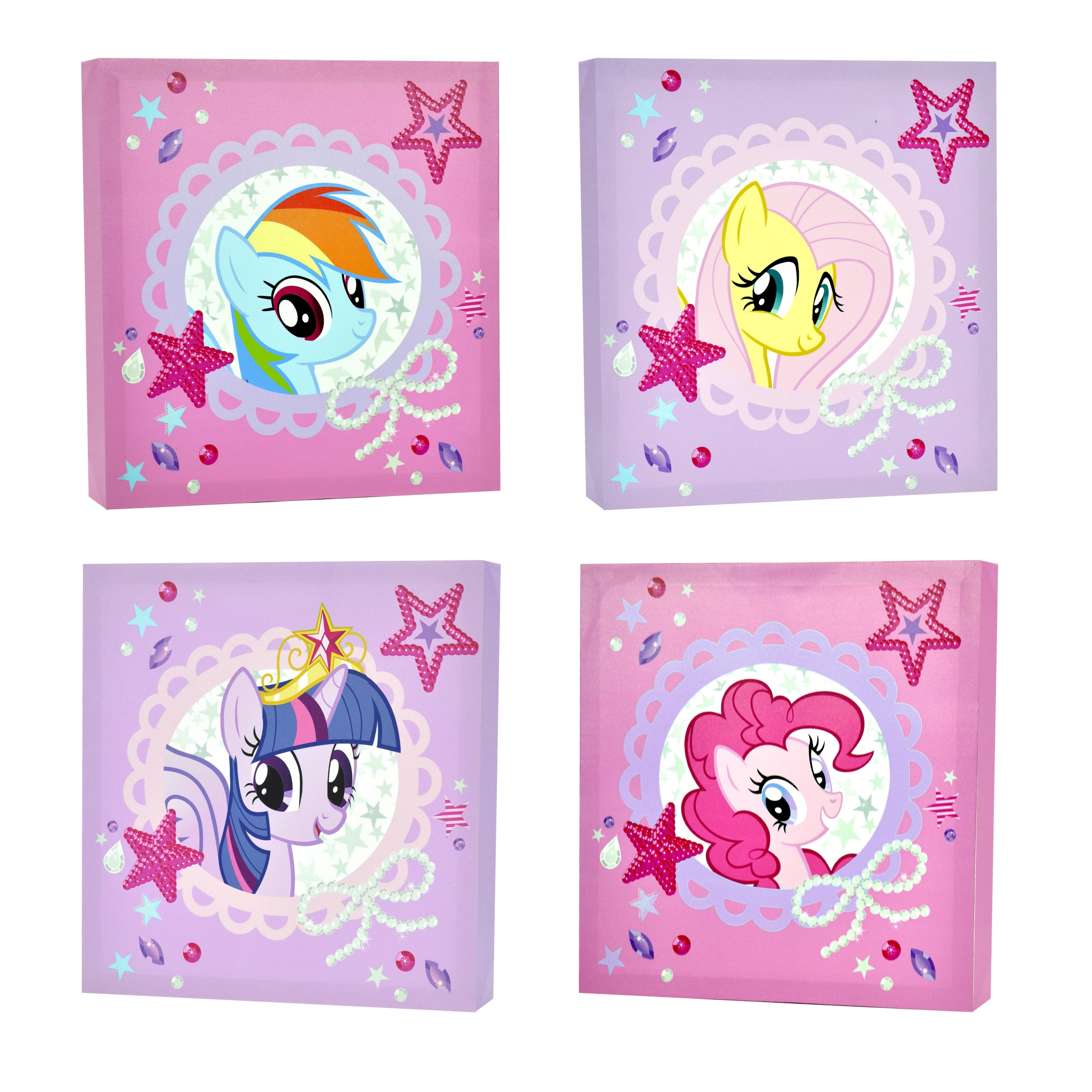 Newest My Little Pony 4 Piece Canvas Wall Art – Walmart Inside My Little Pony Wall Art (View 2 of 15)