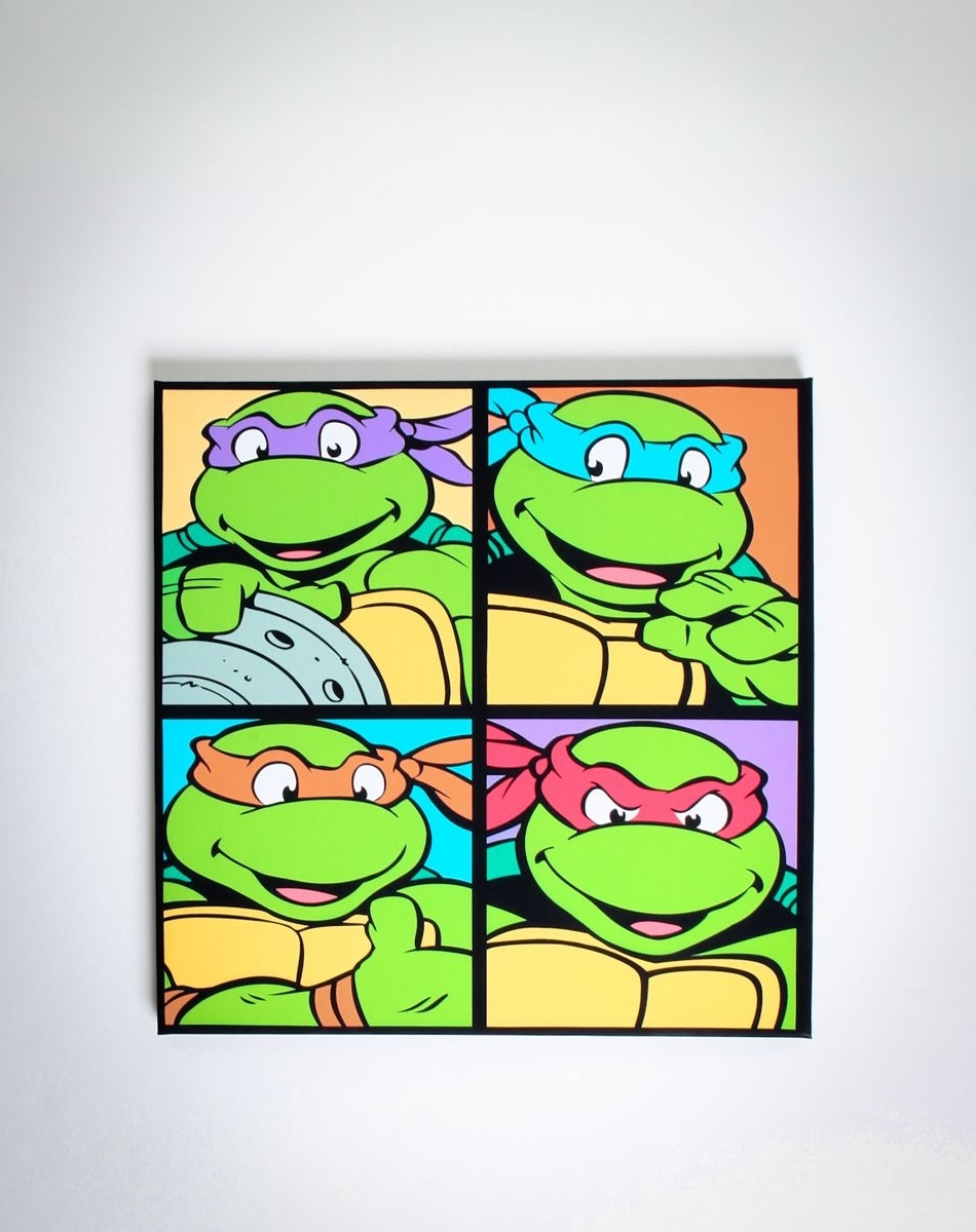 Newest Ninja Turtles Canvas! $ (View 6 of 15)