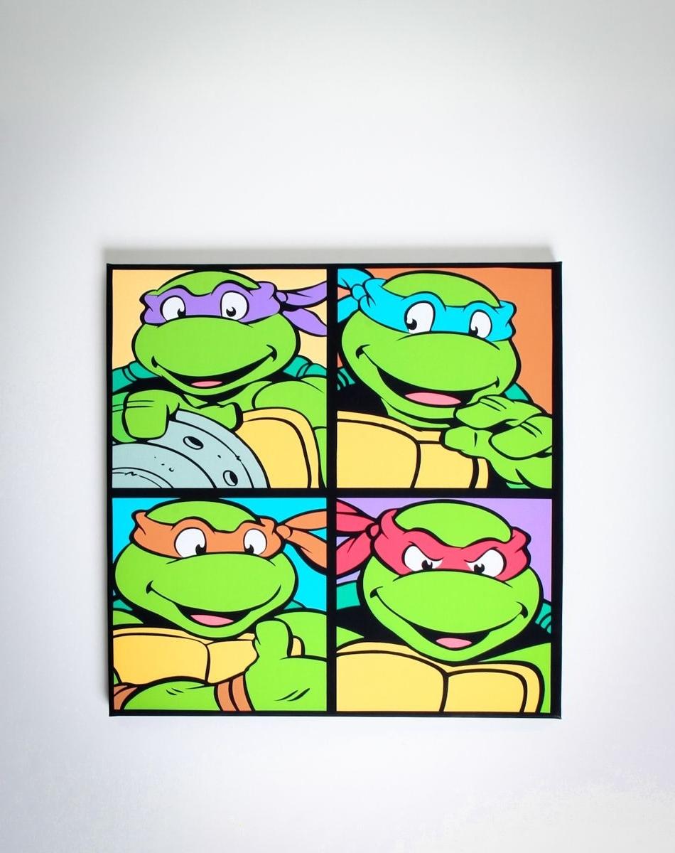 Newest Ninja Turtles Canvas! $ (View 4 of 15)