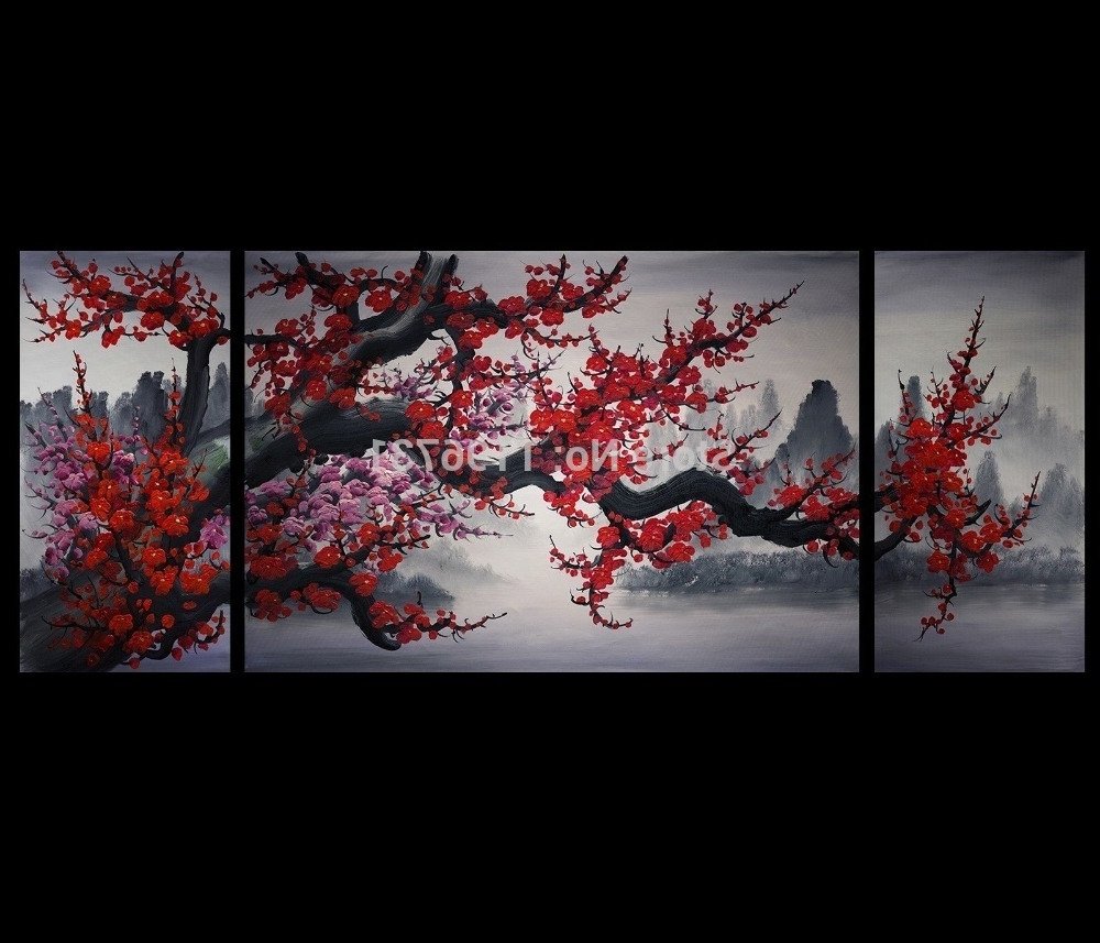 Newest Oilpainting Oil Painting Modern Abstract Art Painting Canvas Wall Intended For Japanese Wall Art (View 3 of 15)