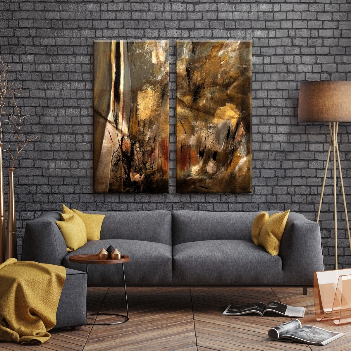 Newest Oversized Wall Art With Regard To Shop Ready2Hangart 'etabx I' 2 Piece Abstract Oversized Canvas Wall (View 8 of 15)