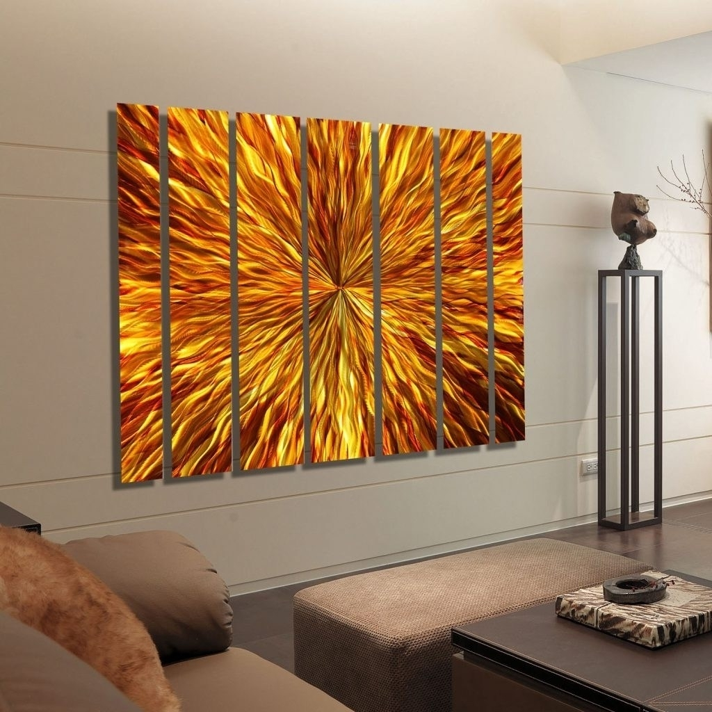 Newest Oversized Wall Art Within Chic Oversized Wall Art Regarding Ness Oversized Metal Wallart (View 15 of 15)