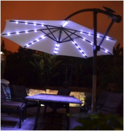 Newest Patio Umbrellas With Led Lights For Sale » Elysee Magazine In Patio Umbrellas With Led Lights (View 4 of 15)